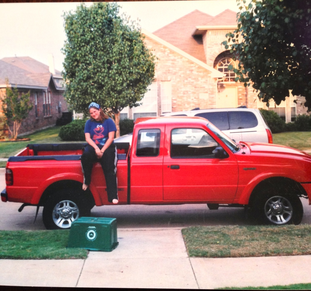 My 16 year old self with my first vehicle. 2001 Ford Ranger Edge. I will never forget the day you and Gaylon suprised me with it.